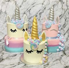 Unicorn cakes I'm obsessed
