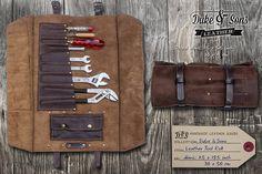 Handmade Leather Tool Roll от DukeAndSonsLeather на Etsy