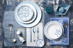 Blue Flames, Teller, Tablescapes, Celebration, Plates, Pure Products, Tableware, Interior, Hand Painted Dishes