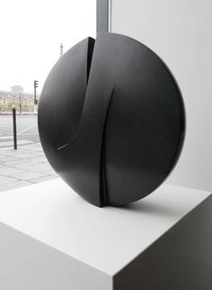Michel Lucotte Black Granite Sculpture | From a unique collection of abstract sculptures at https://www.1stdibs.com/art/sculptures/abstract-sculptures/