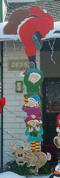 Elves helping Santa  to the roof 11 FT Tall by RavensNest28, $225.00