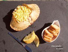 Cinco sentidos na cozinha: Sapateira recheada