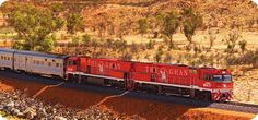 Travelling on The Ghan Train from Darwin right through the centre of Australia (via Alice Springs) to Adelaide. 2 nights on the train. Adventure Quest, Adventure World, Adventure Travel, Darwin Australia, Visit Australia, Train Travel, Train Trip, Great Places, Places To See