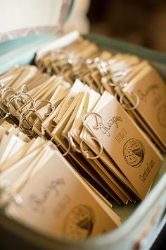 Love this! Mini-Recipe book wedding favors. Now, THAT is truly a gift made with love.