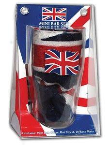 Union Jack mini bar set