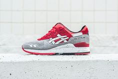 """8d000069935c From the new """"Crane   Turtle"""" pack from ASICS is the GEL-Lyte III in Light  Gray White"""
