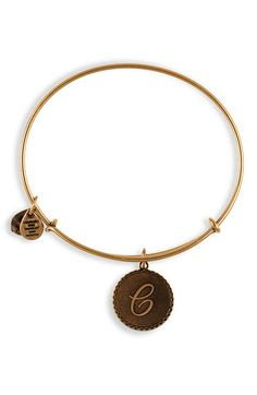 Alex and Ani Initial Bangle-C! I have this bracelet and several others by Alex and Ani.  Love them!