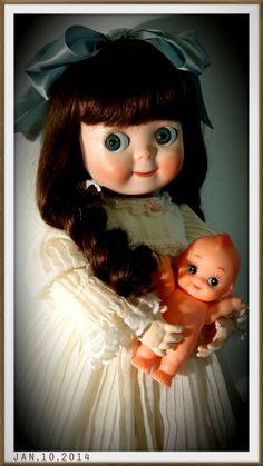 可愛 Old Dolls, Antique Dolls, Vintage Dolls, Antique Collectors, Reborn, Kewpie, Pretty Dolls, Dollhouse Dolls, Big Eyes