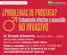 Tratamiento para la próstata, Dr. Echeverría. www.alimentacion-sana.org