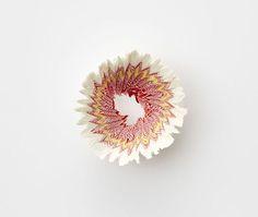 """鉛筆を差し込み、くるくる回すと""""花が咲いた""""ーー。だれでも一度は経験があるかもしれません。捨てるにはもったいない輪冠状の削り屑。そこに着目したのが、日本人のデザイナー・三澤 遥氏です。以下の写真は、紙の魅力を紹介した竹尾ペーパーショウ「SUBTLE」に展示された2014年の作品。グラデーションを施した巻紙を、鉛筆削りで削りました。そっと机の上に咲く「紙の花」。三澤氏によれば、力加減によって、..."""