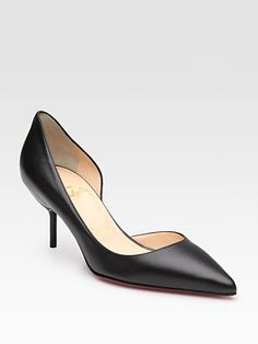 Christian Louboutin - Leather Point-Toe D'Orsay Pumps