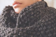 the bapsicrafts fossa chunky loop scarf by bapsi-, via Flickr