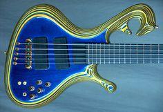 My Ritter Okon 5-String Bass #0428.  Body view.