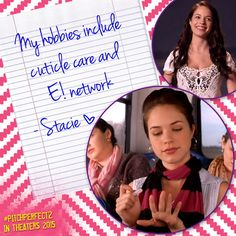 Stacie shares her hobbies, what are yours? #PitchPerfect #ThrowbackThursday #TBT