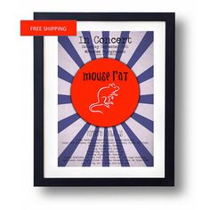 Mouse Rat Parks and Recreation Concert Poster by ManCaveStore $7.50 #ParksandRec #RonSwanson #MouseRat