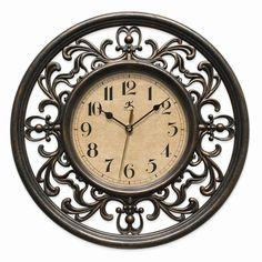 Sofia Filigree Style Wall Clock W/silent Movement