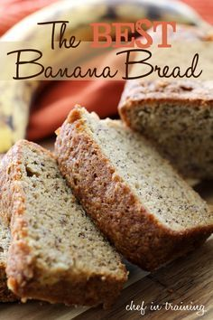 The BEST Banana Bread... it is so moist and the flavor is perfect! You won't find a better banana bread out there!