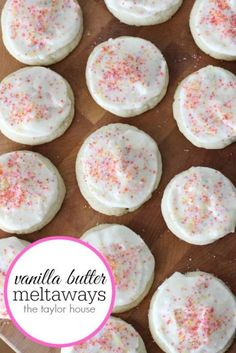 Vanilla Butter Meltaway Cookies recipe!