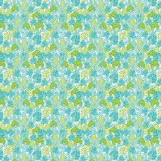 Vinyl Behang Vector blauw groen tropische bladeren zomer Hawaiiaanse naadloze patroon met tropische planten en bladeren op marine blauwe achtergrond. geweldig voor vakantie thema stof, behang, verpakking. - Bloemen en Planten
