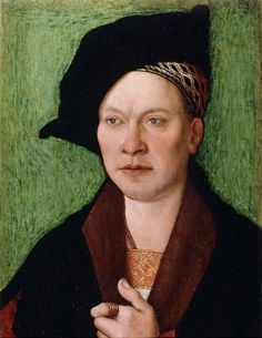 Bernhard Strigel — Portrait of a Gentleman, 1520 : Fuji Art Museum,Tokyo. Renaissance Hut, Renaissance Artworks, Renaissance Portraits, Renaissance Artists, Old Portraits, Portrait Art, Pop Art, Landsknecht, Art Brut