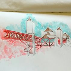 Dragão do mar.  #watercolor #sketch #urbansketch #fortaleza