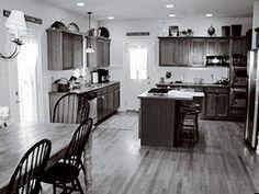 White Vintage Kitchen entry door