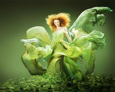 Green Fashion Photography | Editorial Fashion Shoot by photographer Joseph Anthony Baker