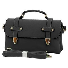 Eri - Womens fashion #black #shoulderbags with double compartment