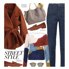 Street Style by beebeely-look on Polyvore featuring Rosetta Getty, Chicwish, M.i.h Jeans, Dooney & Bourke, Ray-Ban, Moschino, StreetStyle, casual, streetwear and nyfwstreetstyle