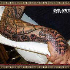 Biomechanical Tattoo ..made by Brave
