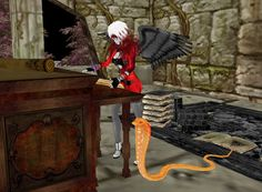 My pet snake likes reading...and eating Library mice too!