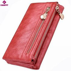 DOLOVE Brand New Design Women Wallet Long High Quality Female Clutch Zipper Wallets Big Capacity Purse cell Phone bag Pocket Wallet With Coin Pocket, Long Wallet, Wallet Pattern, Pocket Cards, Mini Purse, Aliexpress, Clutch Wallet, Leather Clutch, Wallets For Women