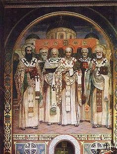 The paintings of Vladimir Cathedral in Kiev: Cathedral of Saints of the Universal Church.