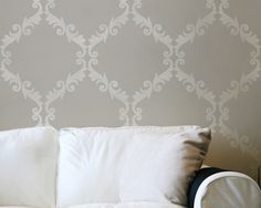 Large Wall Stencil Acanthus Trellis Allover Stencil Great Alternatiive to Decals and Wallpaper for Wall Decor
