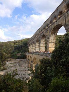 Roman-build 2000 year old Pont du Gard, France