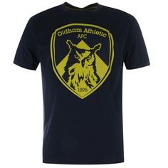 Oldham Athletic | Oldham Athletic Crest T Shirt Mens | Casual Football Clothing