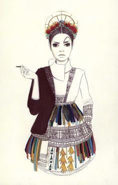 Camilla do Rosario #fashion #illustration #fashionillustration