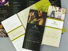 Purpose of brochure may vary from business to business. Some are designed to display services etc. Here we have we have brochure design ideas for you. Brochure Design Samples, Brochure Examples, Brochure Layout, Brochure Design Inspiration, Graphic Design Layouts, Graphic Design Illustration, Design Ideas, Graphic Designers, Color Inspiration