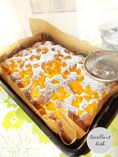 Delicious Cake Recipes, Yummy Cakes, Sweet Recipes, Dessert Recipes, Yummy Food, Apricot Cake, Peach Cake, Polish Desserts, Polish Recipes