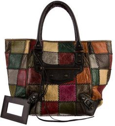 Balenciaga Motocross Patchwork Sunday Tote on shopstyle.com