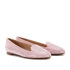 80b649f343c144 mytheresa.com - Valentino - STUDDED SUEDE SLIPPER-STYLE LOAFERS - Luxury  Fashion for