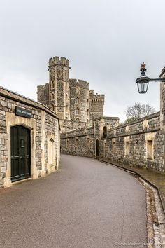 The entrance to England's Windsor Castle is a winding road, but it's worth walking it to see the magnificent State Apartments and St George's Chapel.  #castles #windsorcastle #england