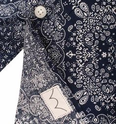 Edwin Navy & White Paisley Print Short Sleeved Shirt  #GavinRecommends