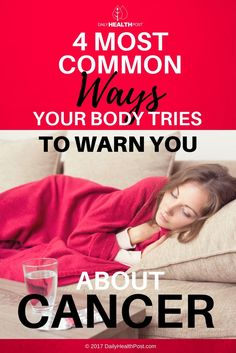 "Here are some early warning signs that you should not ignore; if something doesn't feel ""right"" or ""normal"" to you, your body is trying to tell you something."