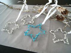 DIY: Drahtstern Weihnachten mit Perlen und Pailletten