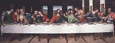 The Last Supper (Leonardo da Vinci) - Wikipedia, the free encyclopedia This is my favorite linear perspective because of all the things going on at the supper. I love all the face expressions from each person and how they are all interacting with one another.
