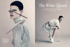 Streeters - News - Wallpaper September 2013 - The White Queen : Lookbooks - the Technology behind the Talent.