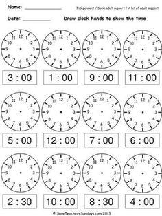 clock worksheets telling the time quarter past 4 | Teaching ...