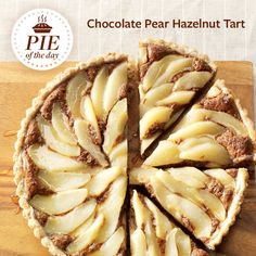 Chocolate Pear Hazelnut Tart Recipe from Taste of Home -- shared by Lexi McKeown, Los Angeles, California