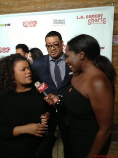 Yvette Nicole Brown, Cedric Yarbough & Linda Antwi